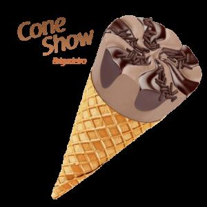 sorvete mareni cone show brigadeiro